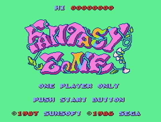 Титульный экран из игры Fantasy Zone / Зона Фантазии (ファンタジーゾーン)