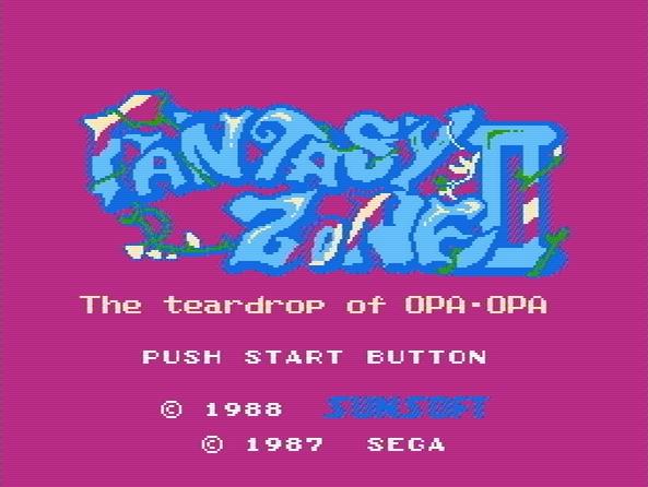 Титульный экран из игры Fantasy Zone 2 - The Teardrop of Opa-Opa / Зона Фантазии 2 - Слезинка Опа-Опа