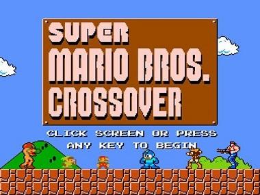 Титульный экран из игры Super Mario Bros. Crossover