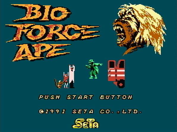 Титульный экран из игры Bio Force Ape / Обезьяна с Био Силой