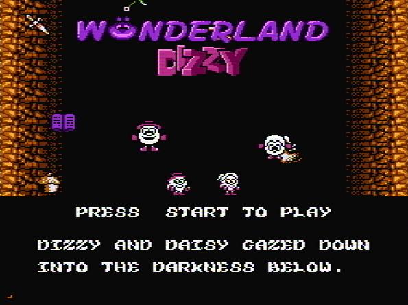 Титульный экран из игры WonderLand Dizzy / Волшебная страна Диззи