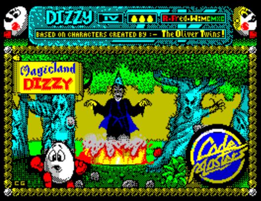 Титульный экран из игры Dizzy IV - Magicland Dizzy / Диззи 4 (Волшебная Земля Диззи)