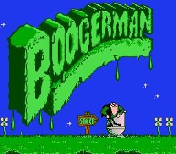 Титульный экран из игры Boogerman A Pick Flick Adventure / Бугермен. - Унитазные Приключения