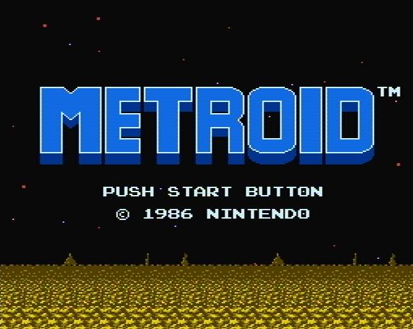 Титульный экран из игры Metroid / Метроид
