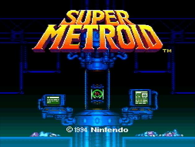 Титульный экран из игры Super Metroid / Супер Метроид