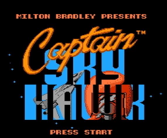 Титульный экран из игры Captain Skyhawk / Капитан Небесный Ястреб