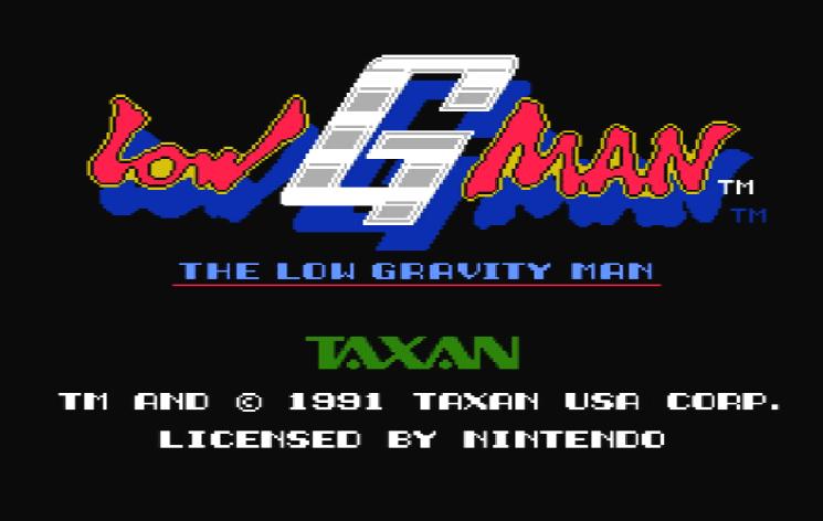 Титульный экран из игры Low G Man - The Low Gravity Man / Человек Низкой Гравитации