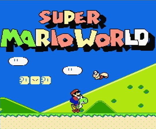 Титульный экран из игры Super Mario World / Мир Супер Братьев Марио
