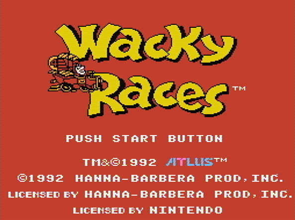 Титульный экран из игры Wacky Races / Сумасшедшие Гонки