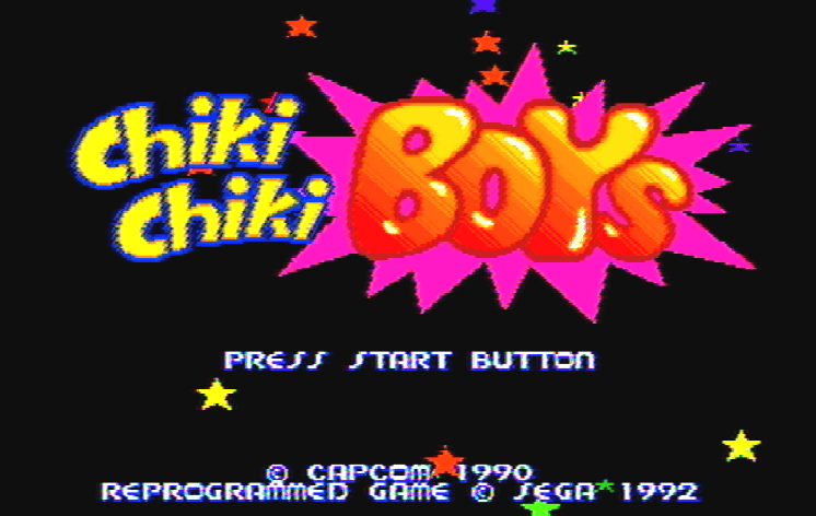 Титульный экран из игры Chiki Chiki Boys / Чики Чики Бойс