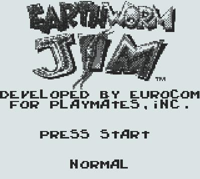 Титульный экран из игры Earthworm Jim / Червяк Джим