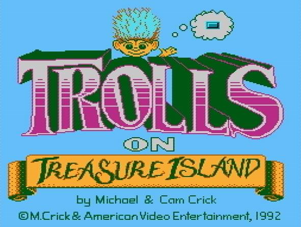 Титульный экран из игры Trolls on Treasure Island / Тролли на Острове Сокровищ