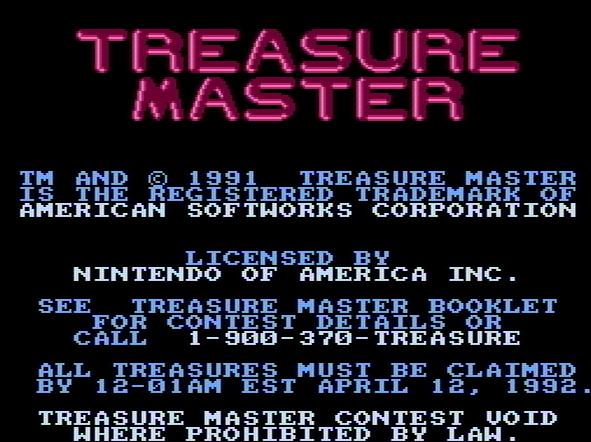 Титульный экран из игры Treasure Master / Мастер Сокровищ