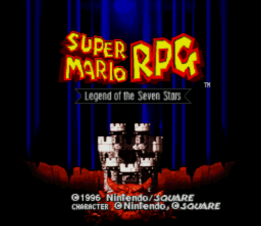 Титульный экран из игры Super Mario RPG - Legend of the Seven Stars / Супер Братья Марио РПГ - Легенда Семи Звезд