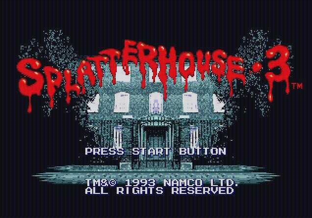 Титульный экран из игры Splatterhouse 3 / Сплаттерхаус 3 / Брызгающий Дом 3