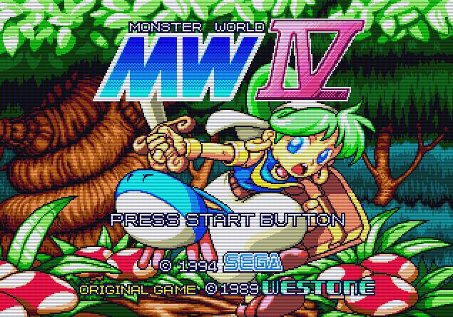 Титульный экран из игры Monster World IV / Мир Монстров 4