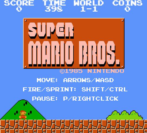 Титульный экран из игры Super Mario Maker / Супер Марио Мейкер.