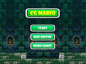 Титульный экран из игры CG Mario / СиДжи Марио