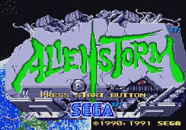 Титульный экран из игры Alien Storm / Штурм (Нашествие) Чужих