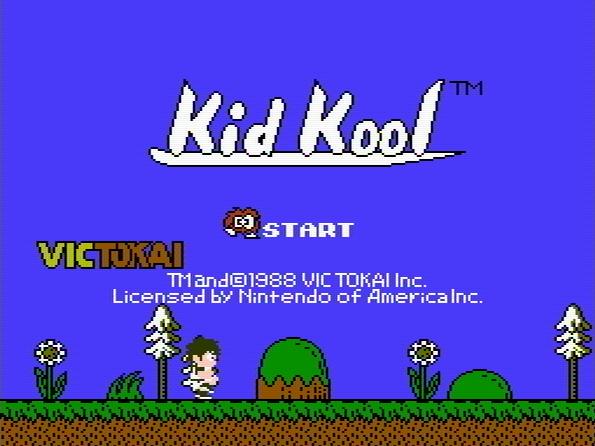 Титульный экран из игры Kid Kool and the Quest for the 7 Wonder Herbs / Кид Кул в Поисках Семи Трав