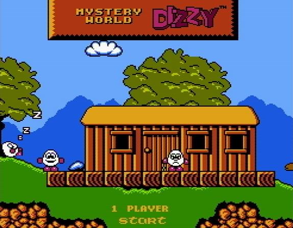 Титульный экран из игры Mystery World Dizzy / Таинственный Мир Диззи