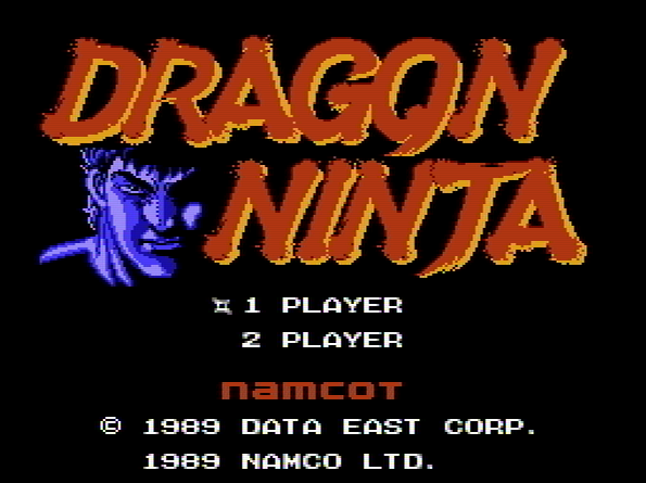 Титульный экран из игры Dragon Ninja /ドラゴンニンジャ