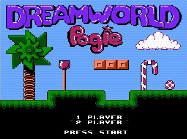 Титульный экран из игры Dreamworld Pogie / Мир Мечты Поги