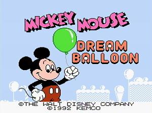 Титульный экран из игры Mickey Mouse: Dream Balloon / Микки Маус и Шарик Мечты