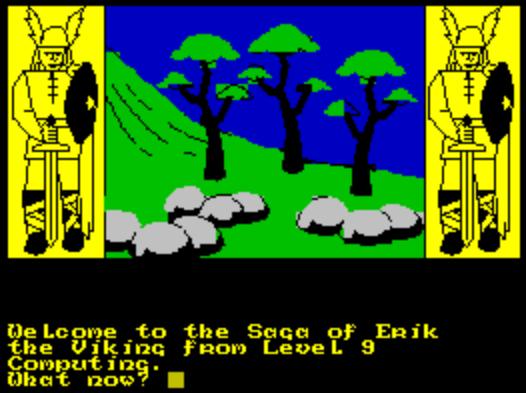 Титульный экран из игры Saga of Erik the Viking, the / Сага об Эрике-Викинге