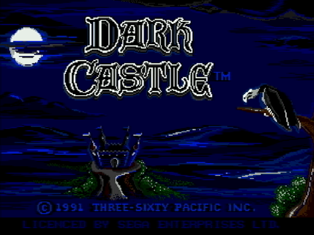 Титульный экран из игры Dark Castle / Тёмный Замок