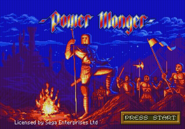 Титульный экран из игры Powermonger / Торговец Властью