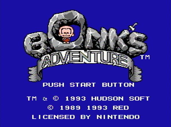 Титульный экран из игры Bonk's Adventure / Приключение Бонка