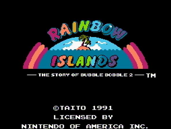 Титульный экран из игры Rainbow Islands: The Story of Bubble Bobble 2 / Радужные Острова: История Баббл Боббл 2