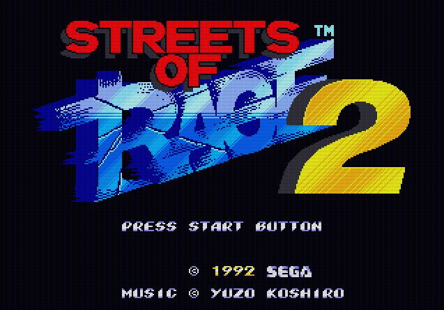 Титульный экран из игры Streets of Rage 2 / Улицы Ярости 2