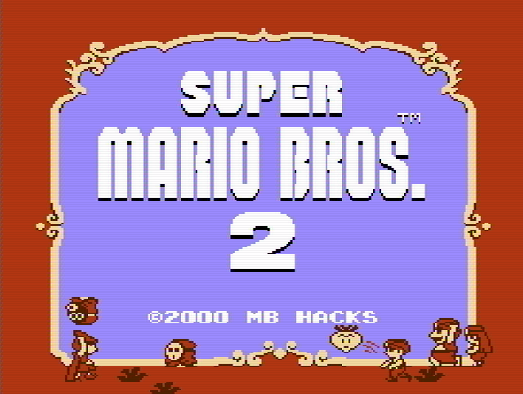 Титульный экран из игры Doki Doki Panic / Super Mario Bros 2 (2000. By  MB)