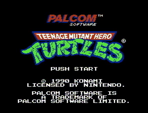 Титульный экран из игры Teenage Mutant Ninja Turtles / Черепашки Ниндзя