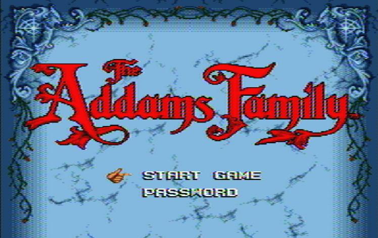 Титульный экран из игры Addams Family 'the / Семейка Аддамс