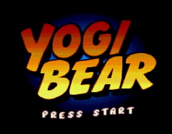 Титульный экран из игры Yogi Bear's Cartoon Capers / Шалости Медведя Йоги