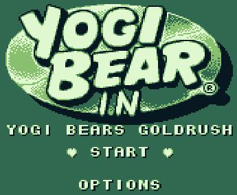 Титульный экран из игры Yogi Bear in Yogi Bear's Goldrush / Медведь Йоги в Золотой Лихорадке