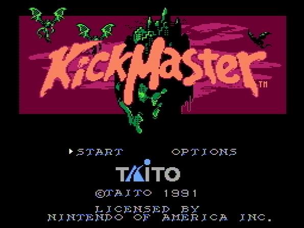 Титульный экран из игры Kick Master / Кик Мастер