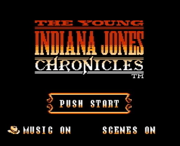 Титульный экран из игры Young Indiana Jones Chronicles / Истории Молодого Индианы Джонса