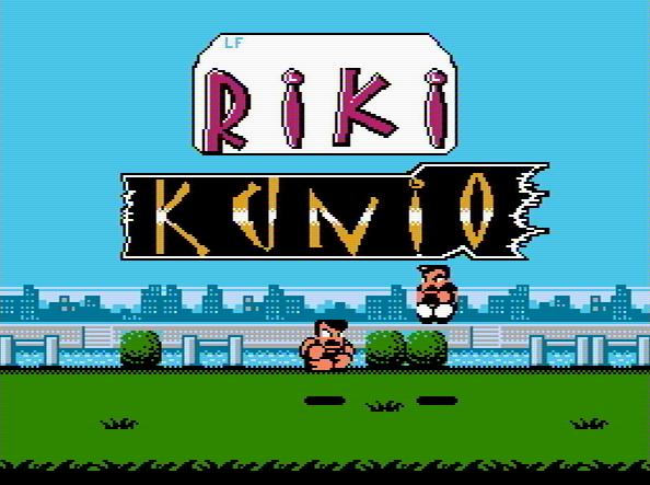 Титульный экран из игры Riki Kunio - Nekketsu Kakutou Densetsu / Рики Кунио
