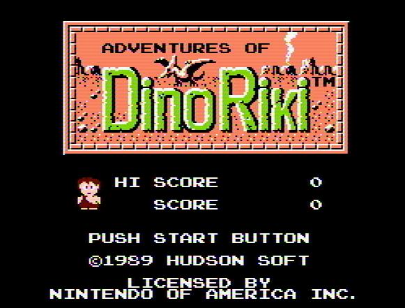 Титульный экран из игры Adventures of Dino Riki 'the / Приключения Дино Рики