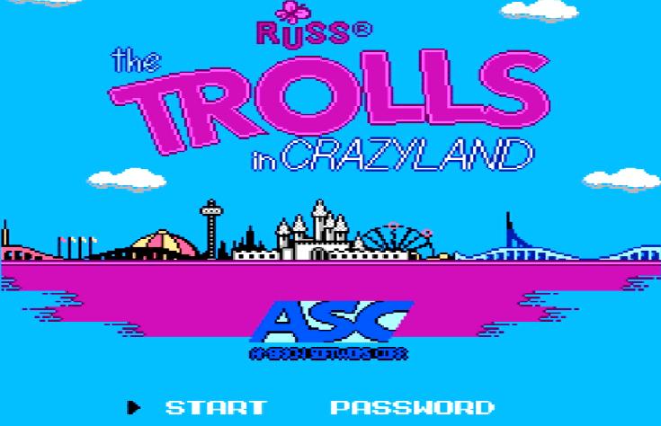Титульный экран из игры Trolls in Crazyland 'the / Тролли в Крейзиленде