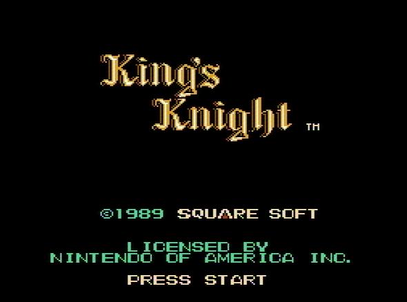 Титульный экран из игры King's Knight / Королевский рыцарь