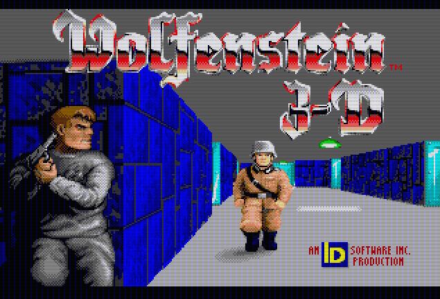 Титульный экран из игры Wolfenstein 3D / Вольфенштайн 3Д