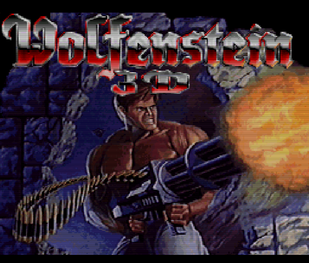 Титульный экран из игры Wolfenstein 3D The Claw of Eisenfaust / Вольфенштайн 3Д Коготь Эйзенфауста