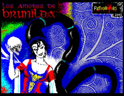 Титульный экран из игры Los Amores de Brunilda / Брунхильда
