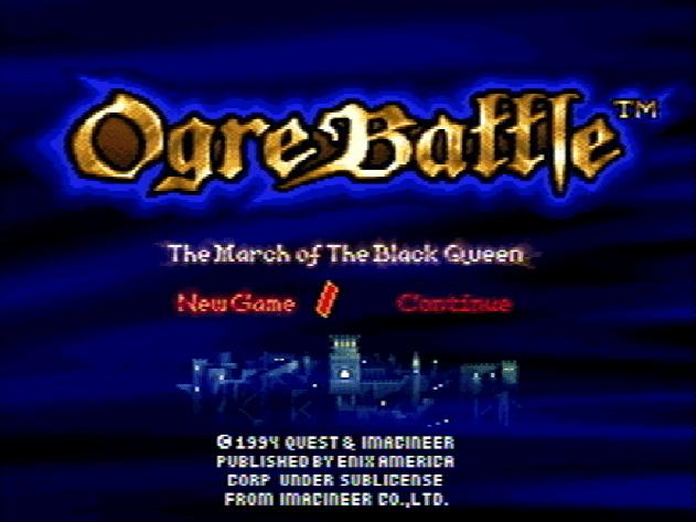 Титульный экран из игры Ogre Battle The March of the Black Queen / Битва Огра. Марш Черной Королевы