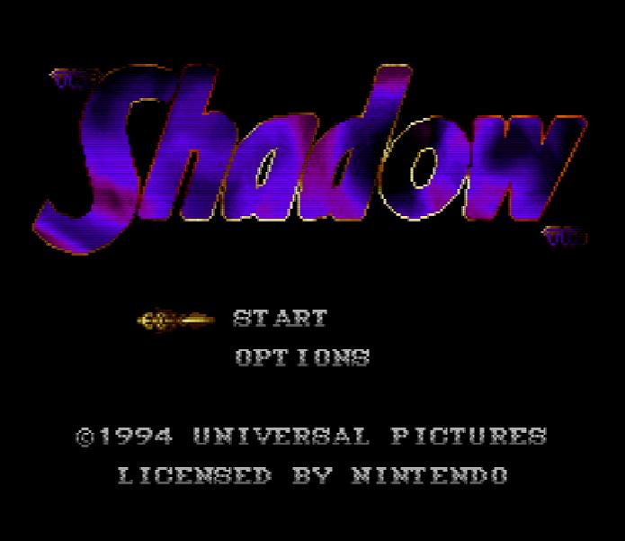 Титульный экран из игры Shadow 'the / Тень